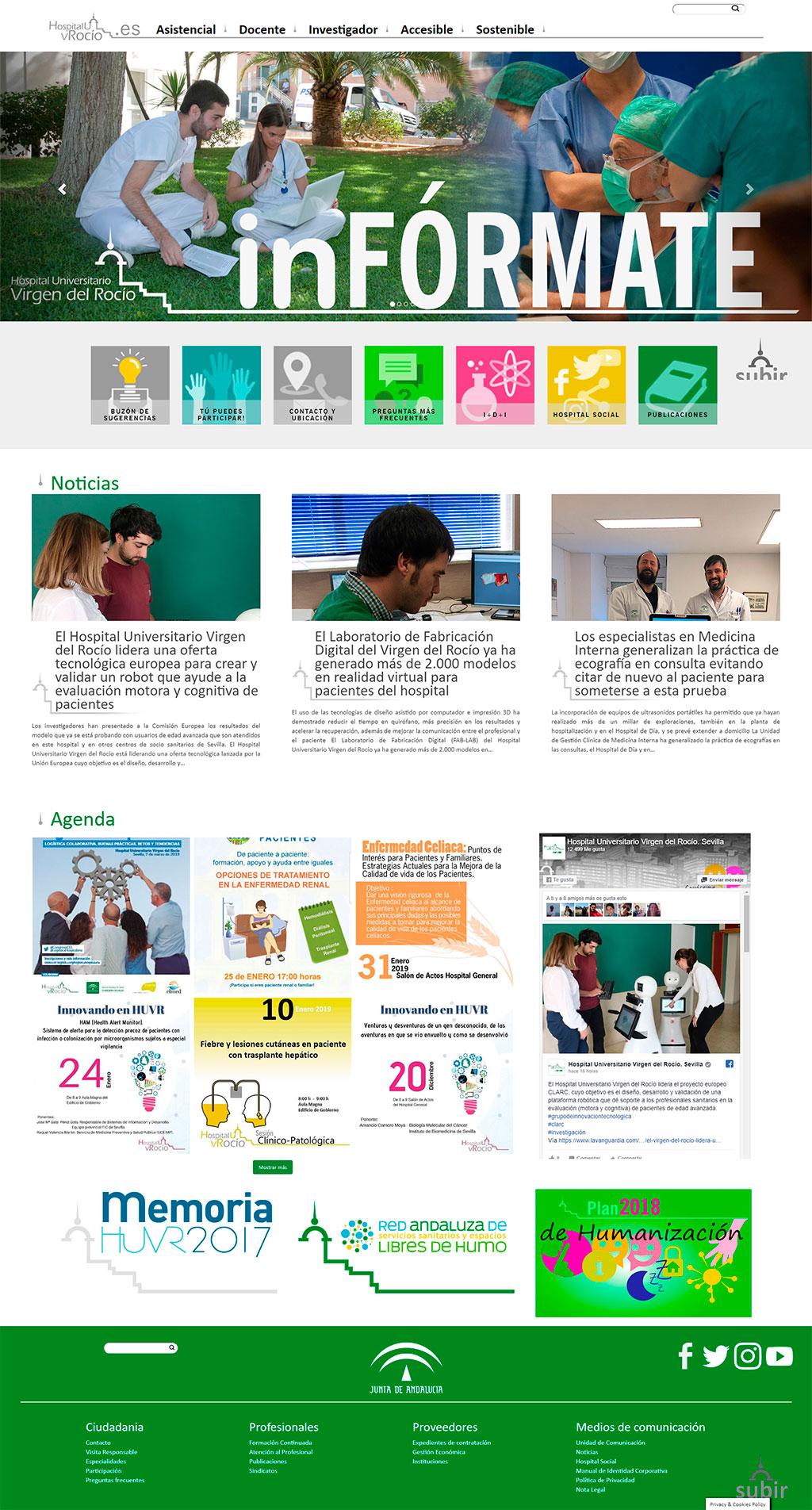 Nueva web del hospital Virgen del Rocío