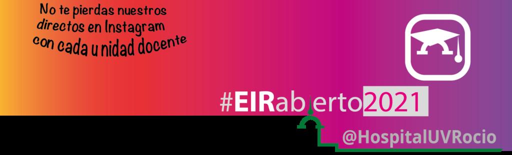 Calendario jornadas virtuales para residentes #EIRabierto