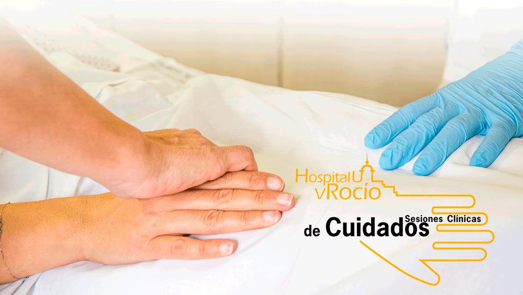 Cartel anunciador de las sesiones clínicas de cuidados