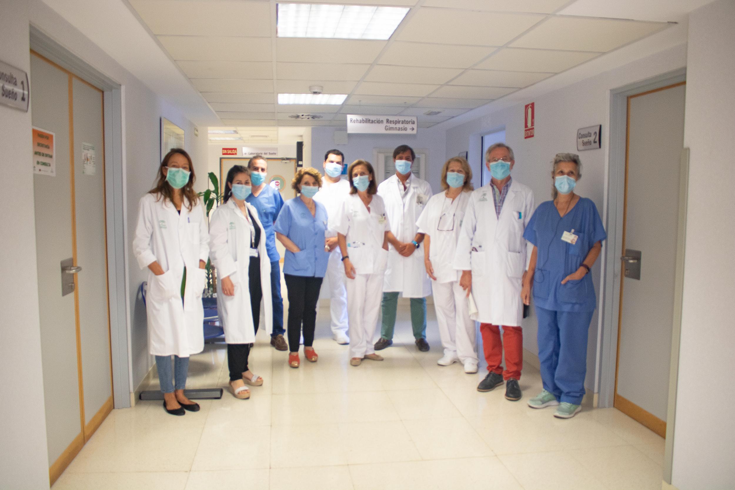 grupo de profesionales de la unidad multidisciplinar de ELA