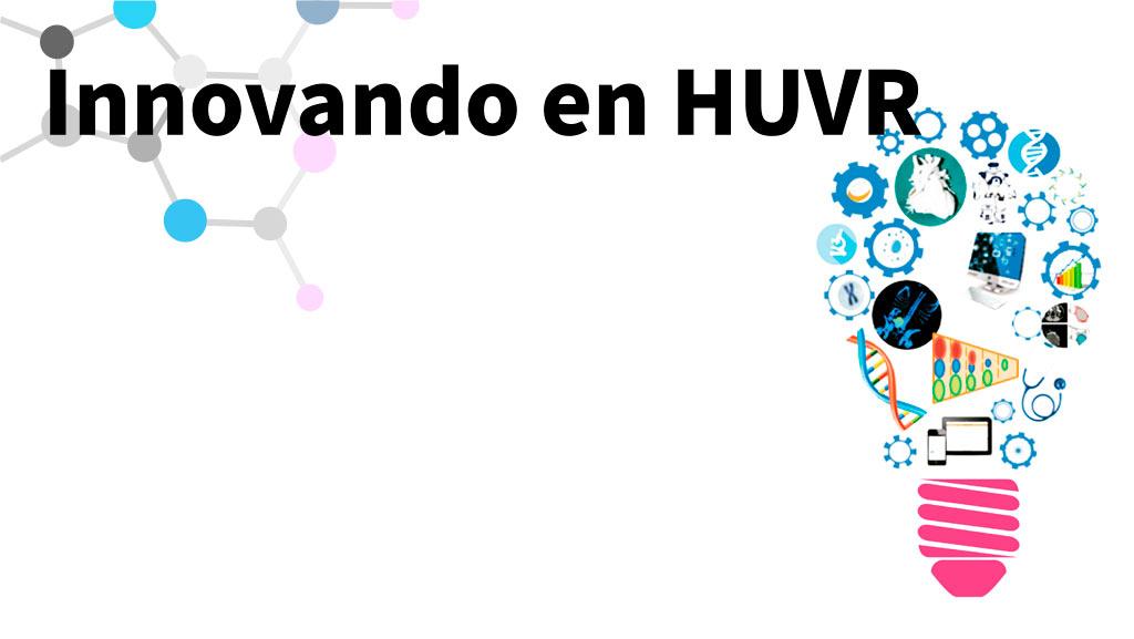 Logotipo con forma de bombilla de las sesiones de innovación del hospital virgen del rocío
